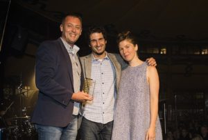 Australian Podcast Awards presenting trophy