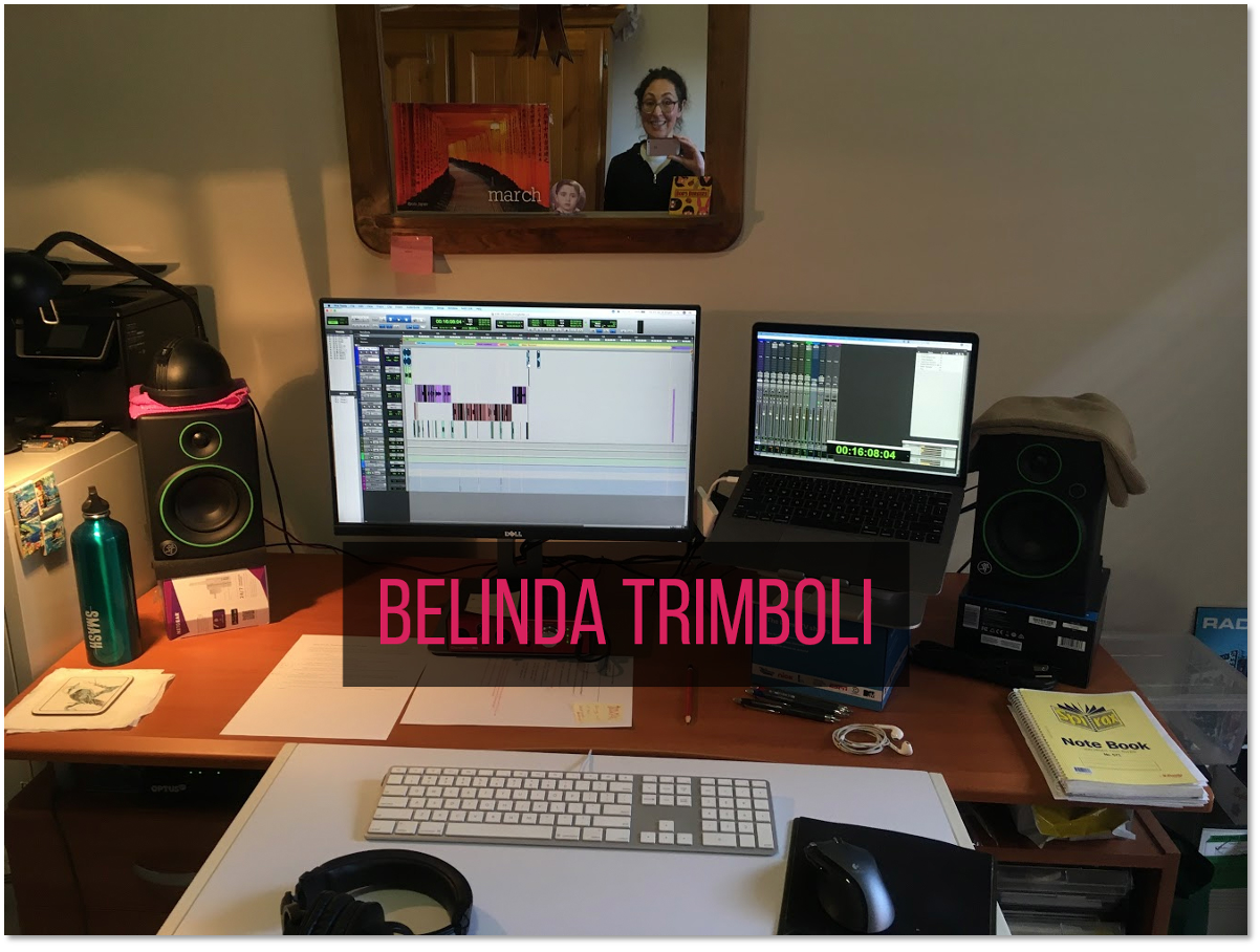 Belinda's home-spun audio editing suite